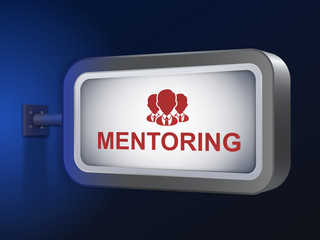 mentoring word on billboard