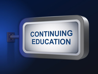 continuing education words on billboard