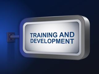 training and development words on billboard