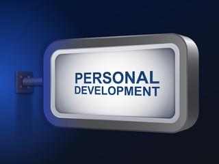 personal development words on billboard