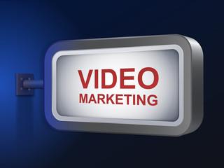 video marketing words on billboard