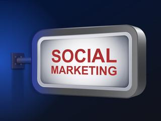 social marketing words on billboard