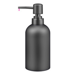 Black cosmetic pump bottle