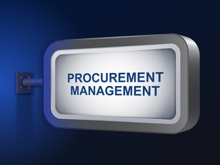 procurement management words on billboard
