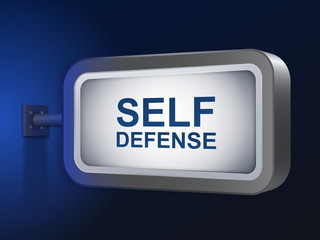 self defense words on billboard