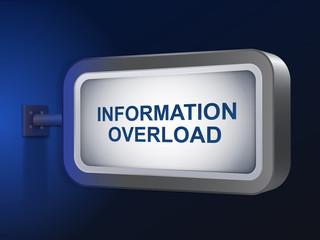 information overload words on billboard