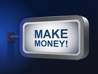 make money words on billboard