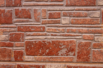 Tile pattern of a stone wall.