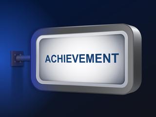 achievement word on billboard