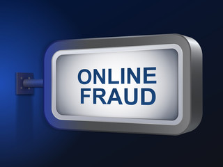 online fraud words on billboard