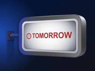 tomorrow word on billboard