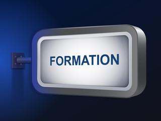 formation word on billboard