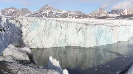 Calving glacier - Arctic, Svalbard, Spitsbergen