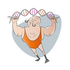 starker mann gewicht gen gencode lustig
