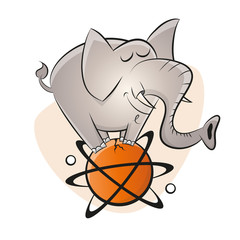elefant zirkus atom ball kernspaltung