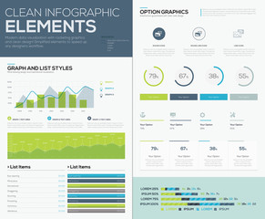 User inteface vector elements to infographics and visualize data