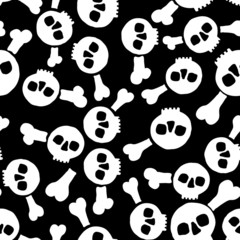 seamless texture with skulls
