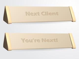 Next client sign