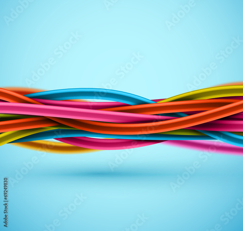 Closeup Electric Cable - 69249830