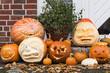 Gruppe Halloweenkürbisse