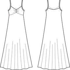 Vector illustration of women's dress