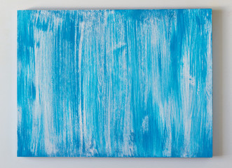 Blue wooden painted background