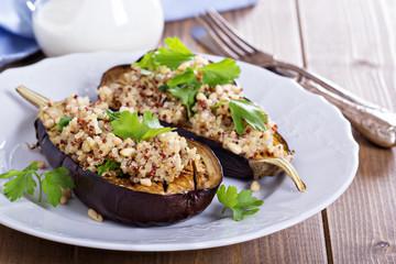 Baked eggplant with quinoa