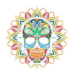 Skull and Sun Flower