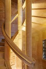 escalier et rampe en pierre, château du Haut-Koenigsbourg
