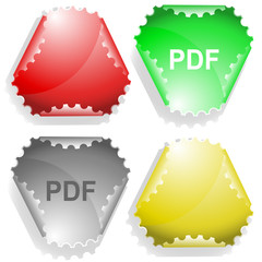 Pdf. Vector sticker.