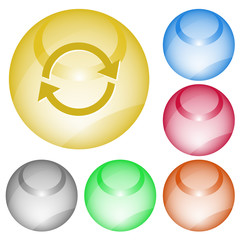 Recycle symbol. Vector interface element.