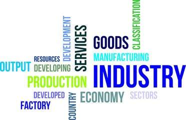 word cloud - industry