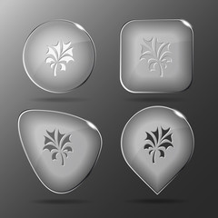 Abstract plant. Glass buttons. Vector illustration.