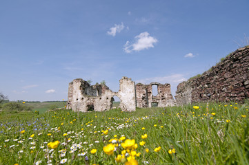 Ruins of old fortress in Buchach, Ternopil region, Ukraine