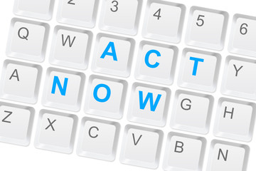 Act now keyboard button