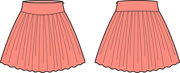 Vector illustration of women's skirt
