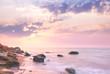 Sea - Sunrise landscape over beautiful rocky coastline