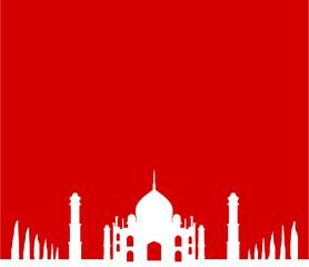 Moschee rot weiß