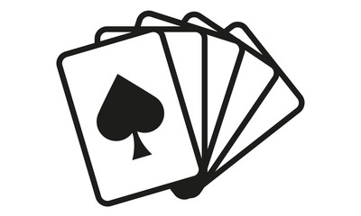 Kartenspiel Fünf Karten Pik