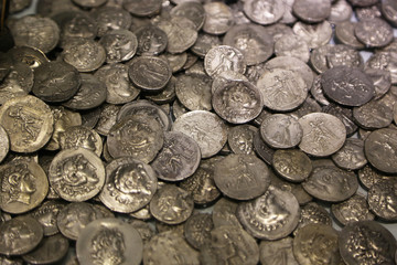 Lot of antique Roman coins.