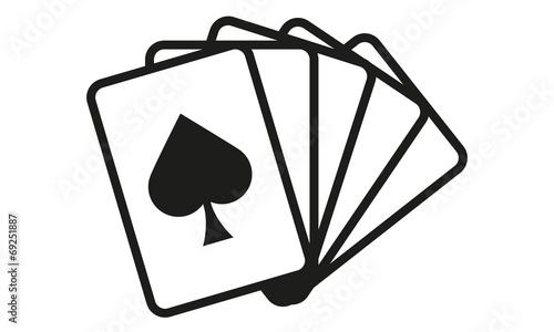 Kartenspiel Fünf Karten Pik - 69251887
