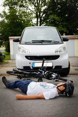 verkehrsunfall mit dem fahrrad