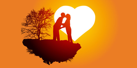 Amoureux - Soleil Couchant