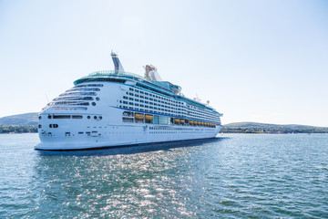 Luxury Cruise Ship in Sunny Bay