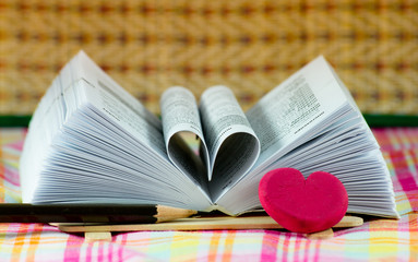 heart book shaped