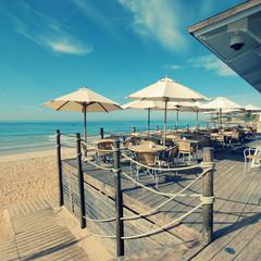 Summer outdoor terrace cafe (Algarve,Portugal)