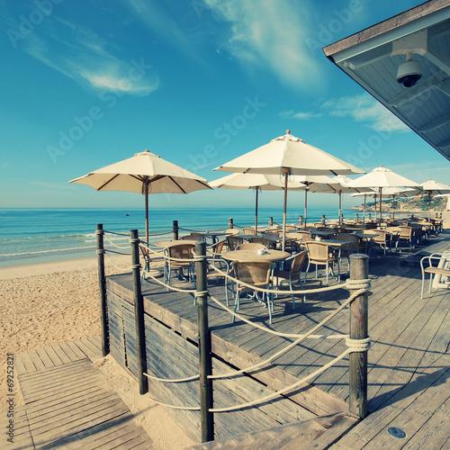 Summer outdoor terrace cafe (Algarve,Portugal) - 69252821