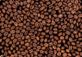 roasted coffee beans texture