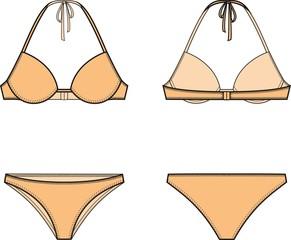 Vector illustration of women's bikini