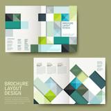 Fototapety geometric style half-fold template brochure